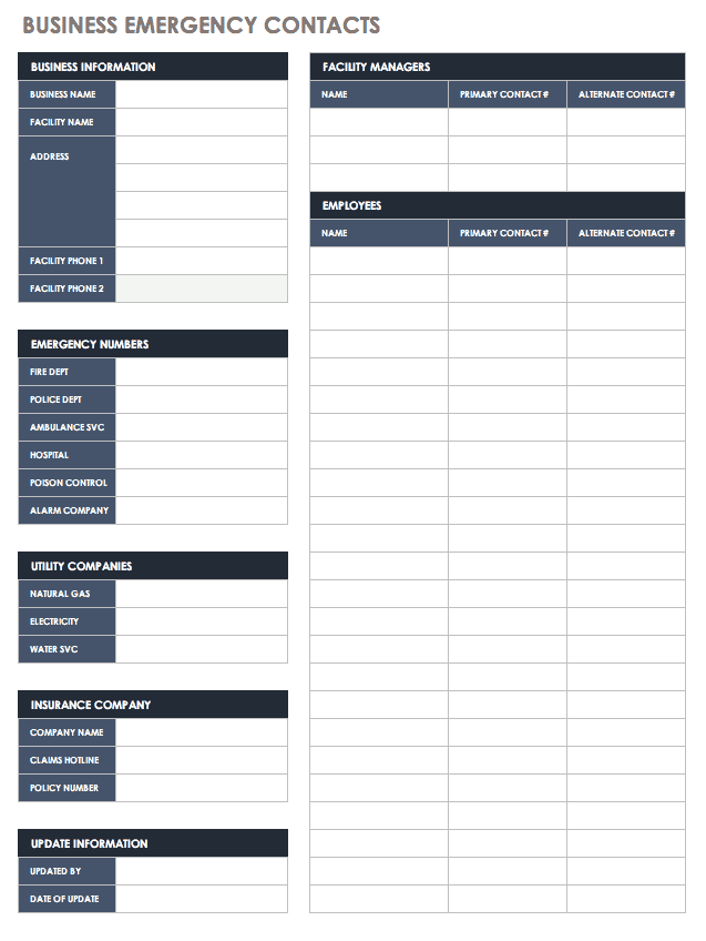 This template makes it easy to see which vendors are approved and how their ratings compare to others. Free Contact List Templates Smartsheet
