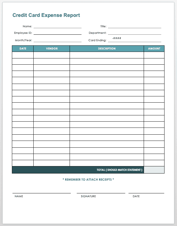 This sample form template in pages has original suggestive headings and content. Free Expense Report Templates Smartsheet