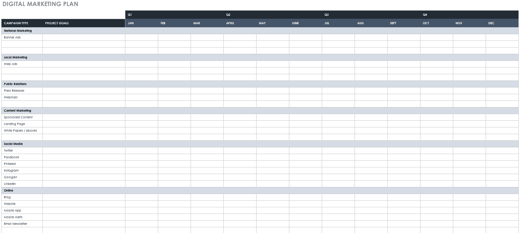 Marketing Plan Templates With Guide