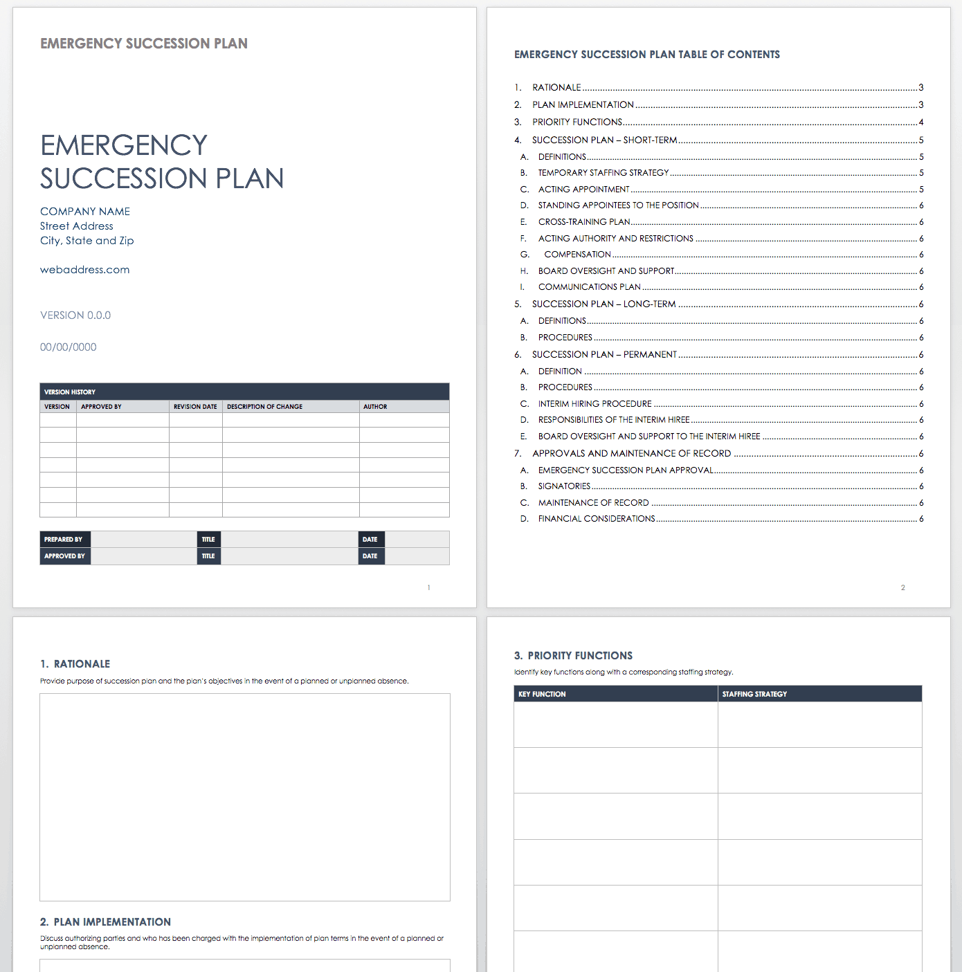 Free Succession Planning Templates
