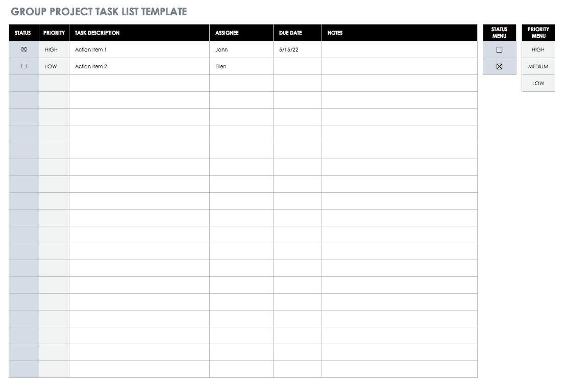 Download free task tracker templates for excel and powerpoint to plan,. 30 Free Task And Checklist Templates Smartsheet