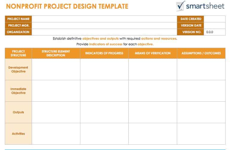 The purpose of the pgmp is to specify the project objectives and describe the approach and define the various activities required to ensure high quality program and project execution. Guide For Creating A Project Design Smartsheet