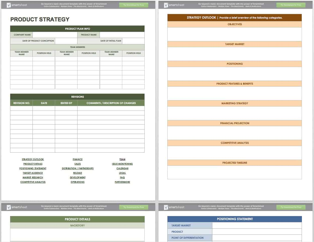 These templates will help you build your own mvp for fun, practice and profit. Free Product Management Templates Smartsheet