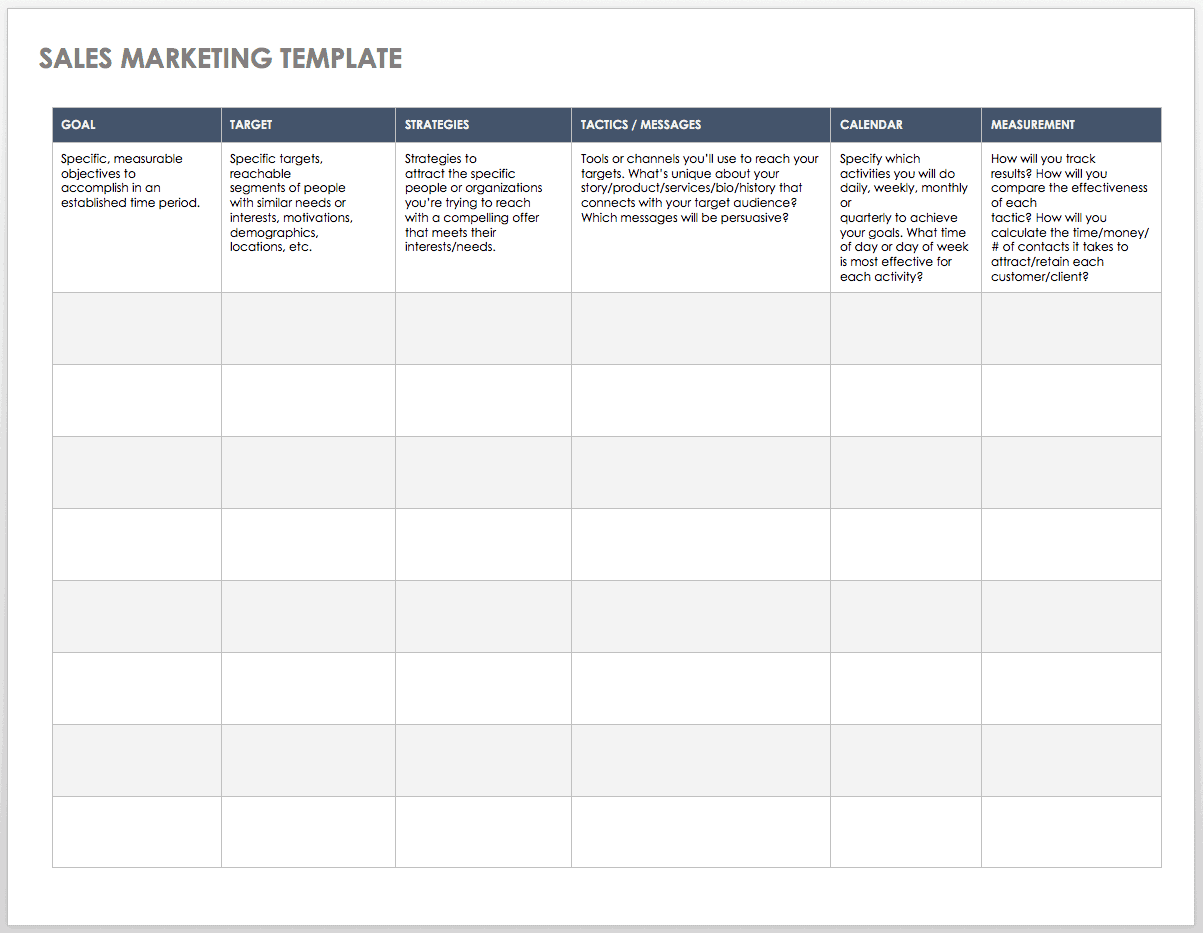 Free Sales Plan Templates