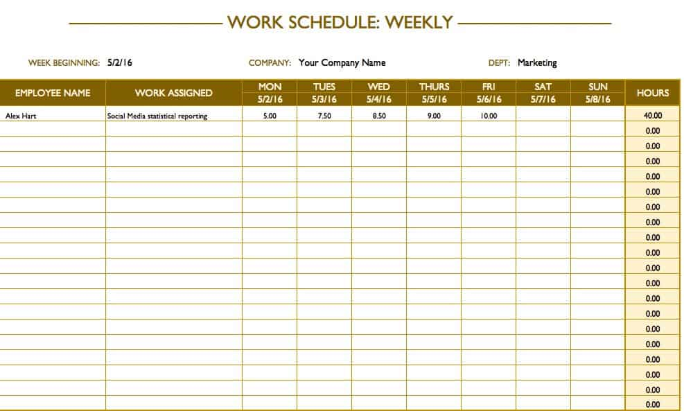 Use a schedule maker to track vacations, personal days, sick days, or other time off. Free Work Schedule Templates For Word And Excel Smartsheet