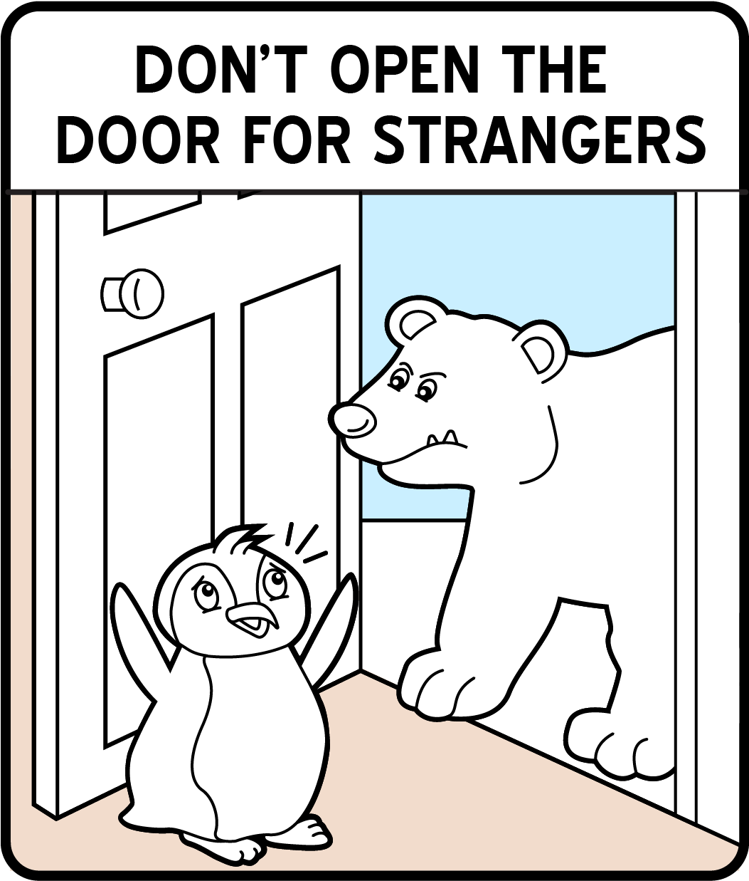 10 Safety Sign Coloring Pages For Kids Smartsign Blog