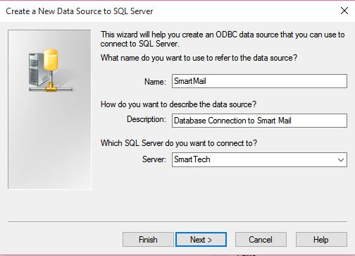 Create ODBC Data Source