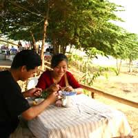 Laos dining, the Mekong