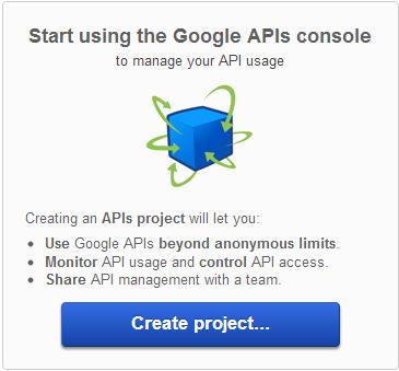 Google API key - Console Page