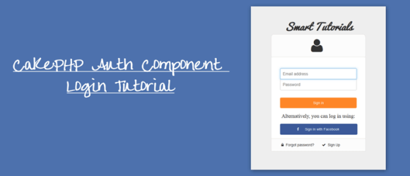 CakePHP Auth Component Login Tutorial