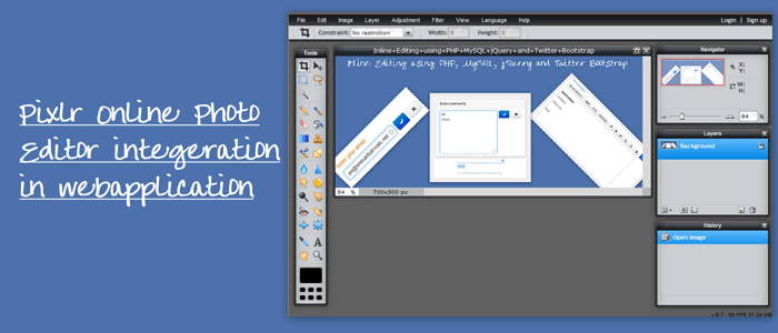 Integrate Pixlr Online Photo Editor in Web Application/Website