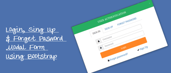 Login, Sing Up & Forget Pasword Modal Form Using Bootstrap