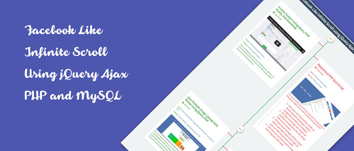 Infinite Scroll using jQuery Ajax PHP and MySQL