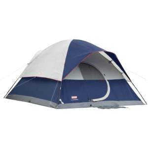 Coleman Tent 12X10 Elite Sundome 6 Person with LED Lighting - Tents