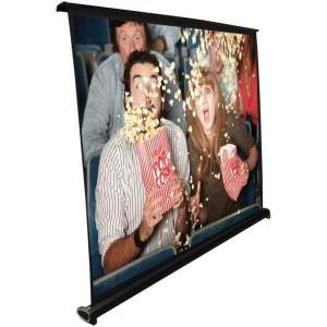 Retractable Pull-out-Style Manual Projector Screen (40-Inch) - Projectors