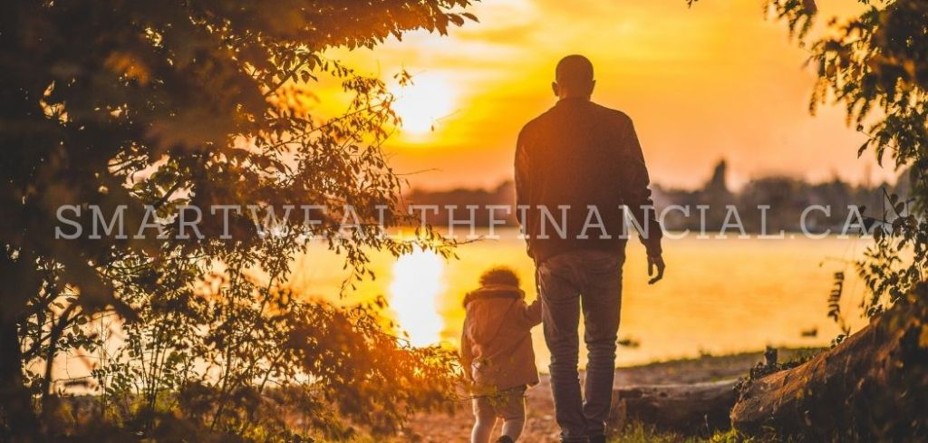 father and child walking - whole life insurance