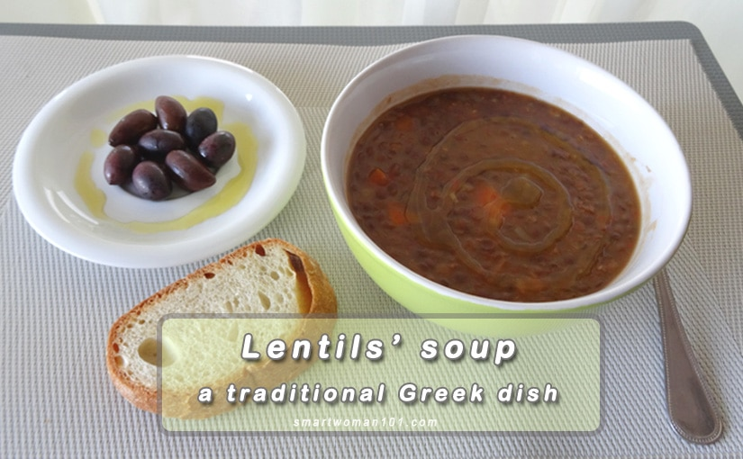 Lentils' soup – A traditional Greek dish