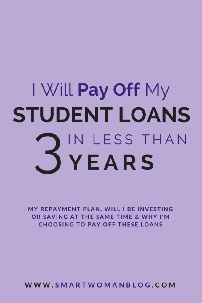 I Will Pay Off my Student Loans in Less than 3 Years