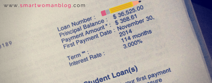 my actual student loan statement