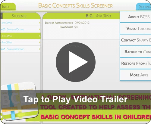 Basic Concepts Skills Screener | Smarty Ears Apps for Learning