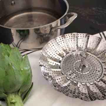 Artichoke and Steaming Platter