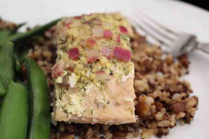 Baked Salmon with Mustard Dill Sauce