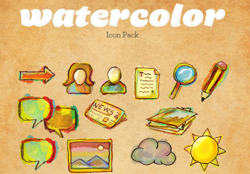 Watercolor Icon Pack