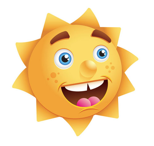 Create-a-Happy-Sun-Character