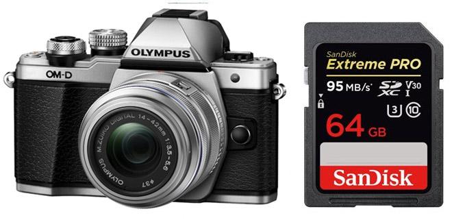 Olympus OM-D E-M10 Digital Camera Memory Card 2 x 32GB Secure Digital High Capacity SDHC Memory Cards 2 Pack
