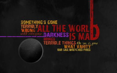 All The World Is Mad by ka ge 45 Free Inspiring High Quality  Typography Wallpapers