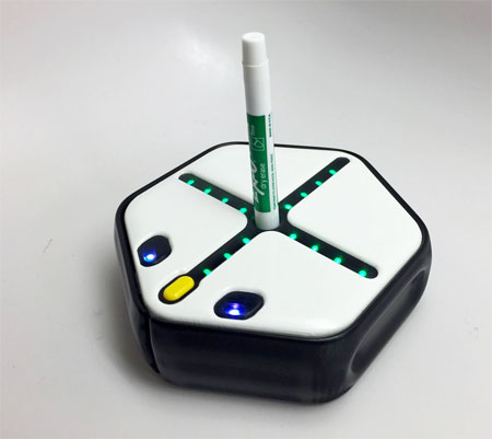 Root robot holding a marker