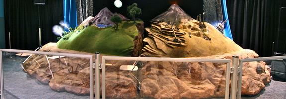 exhibits and scenic decoration 3d sculpture