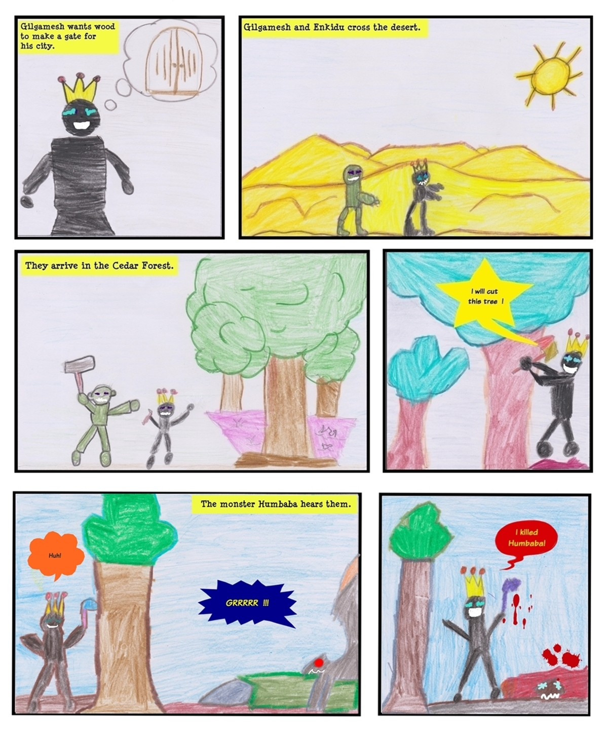 Smashwords The Epic Of Gilgamesh A Comic Strip Made By