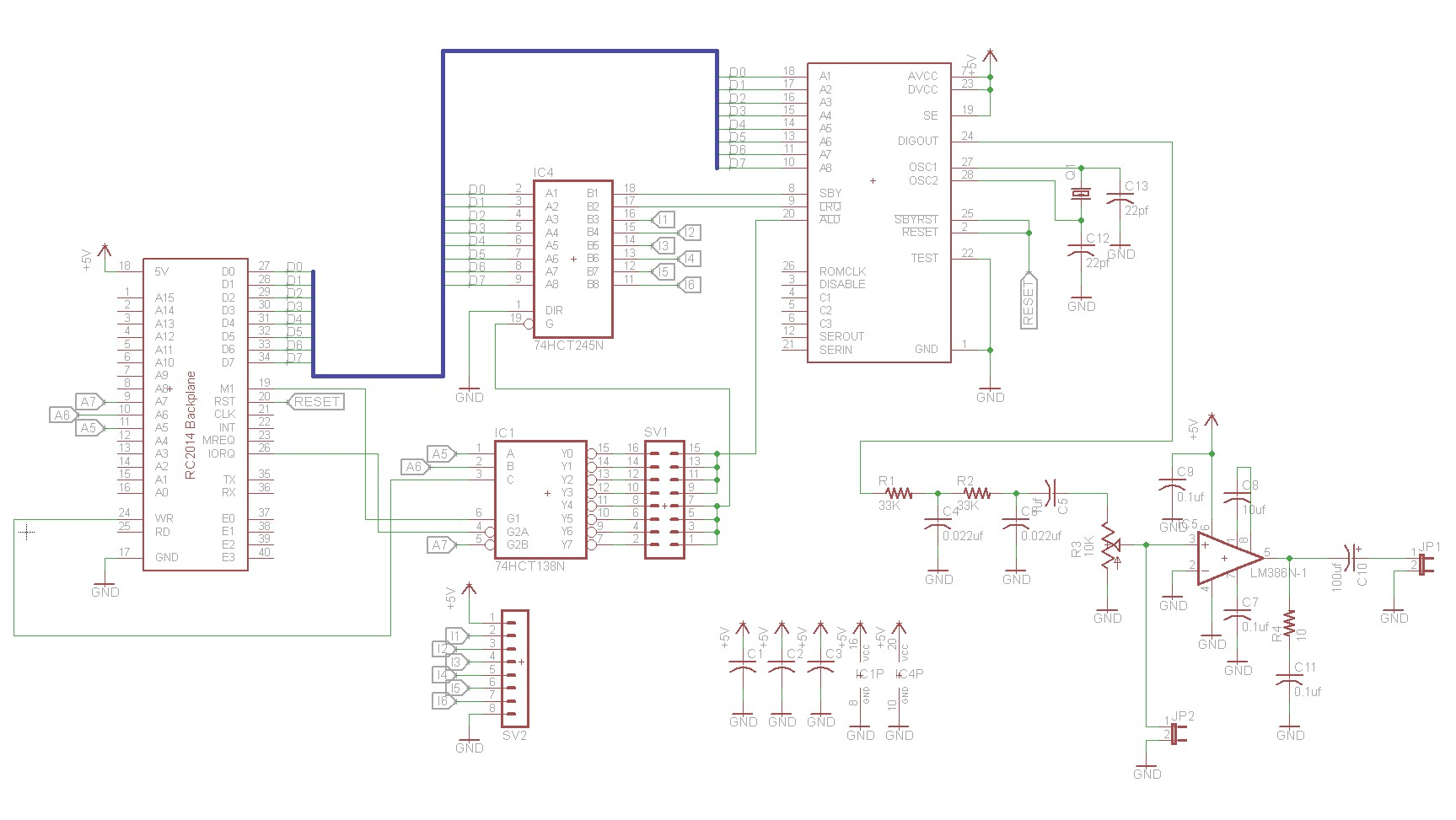 Z80 Retrocomputing 8 Speech Synthesizer For Rc