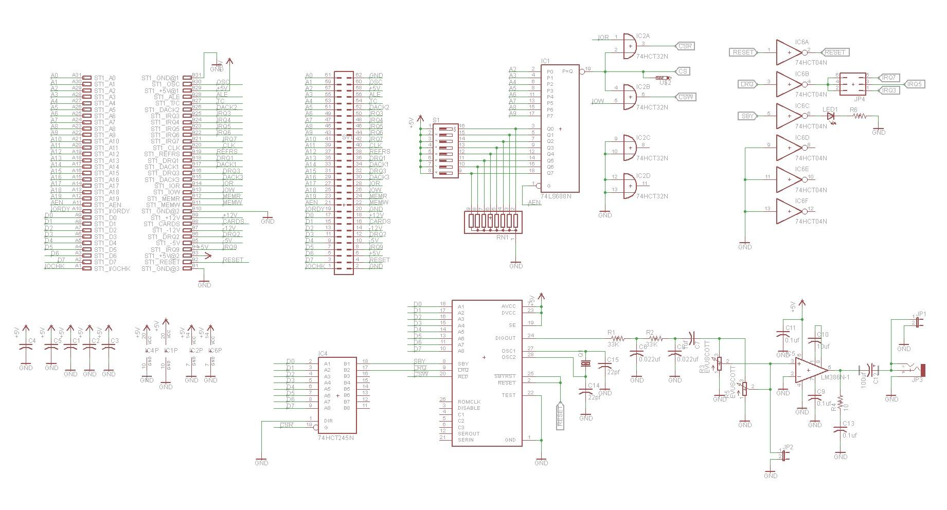 Isa Speech Synthesizer Board Using Sp A Al2