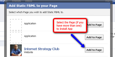 add FBML to your Facebook fan page