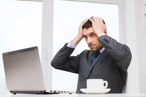 Overwhelmed entrepreneur