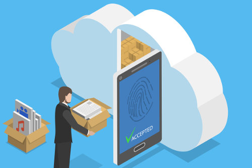 Cloud storage service for business