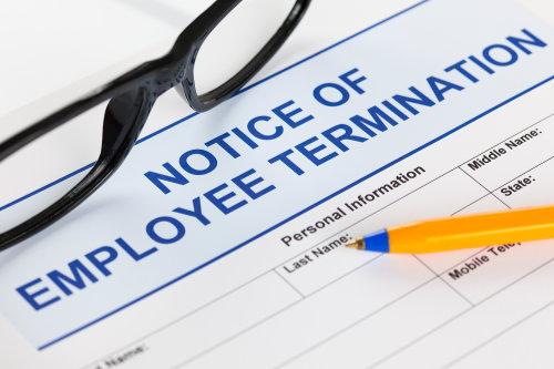 Employee termination notice