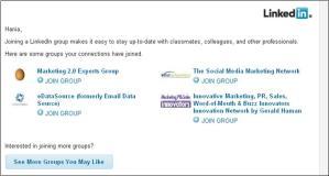 LinkedIn Join Groups screenshot