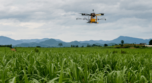 agricultrual drone application with fluid management sensors