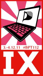 Logo des XI. Bundesparteitags 2011.2 der Piratenpartei Deutschland in Offenbach
