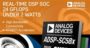 Analog Devices introduced eight SHARC processors