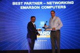 MR. VISWANATH RAMASWAMY, VP-POWER SYSTEMS, IBM INDIA AND SOUTH INDIA IS GIVING AWAY THE AWARD OF THE BEST NETWORKING PARTNER TO EMARSON COMPUTERS