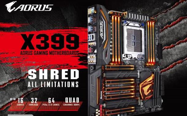GIGABYTE presents X399 AORUS Gaming 7 Motherboard