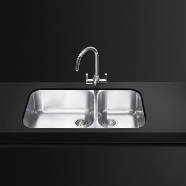 smeg kitchen sinks stainless steel