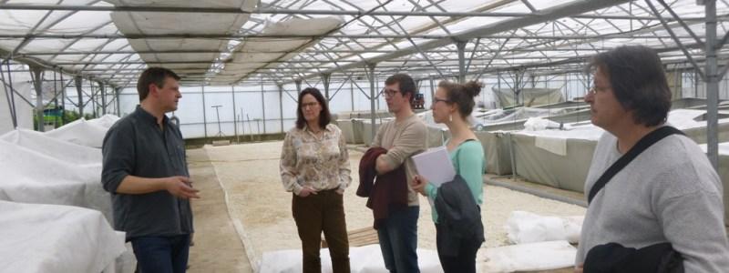 Visite des agents du SMEL à la ferme de Patrice François à Pierrelatte (26)