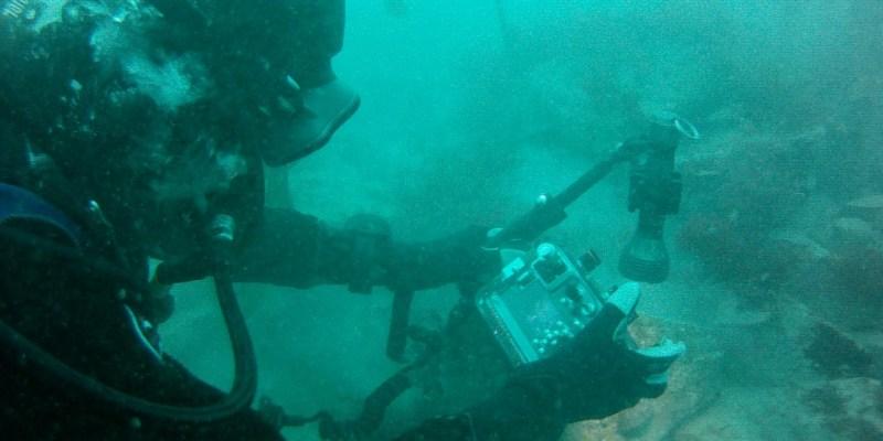Photographie sous marine au cours du suivi DCE macroalgues (@SMEL)