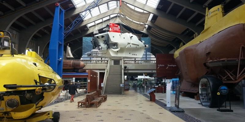 Le hall de la Cité de la Mer à Cherbourg (crédit photo : SMEL)