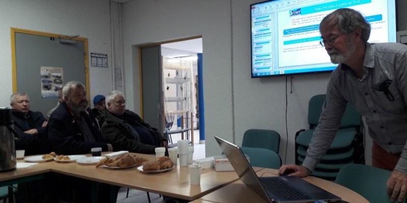 Présentation des activités du SMEL à la délégation estonienne (@ L. Paghent, Hisseo la Normandie)